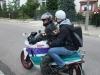Onkel und Bruder aufm Moped