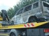 ausgebranntes Auto auf der A11